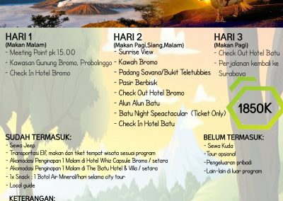 NEW YEAR BROMO-BATU 31DES'18-2JAN'19